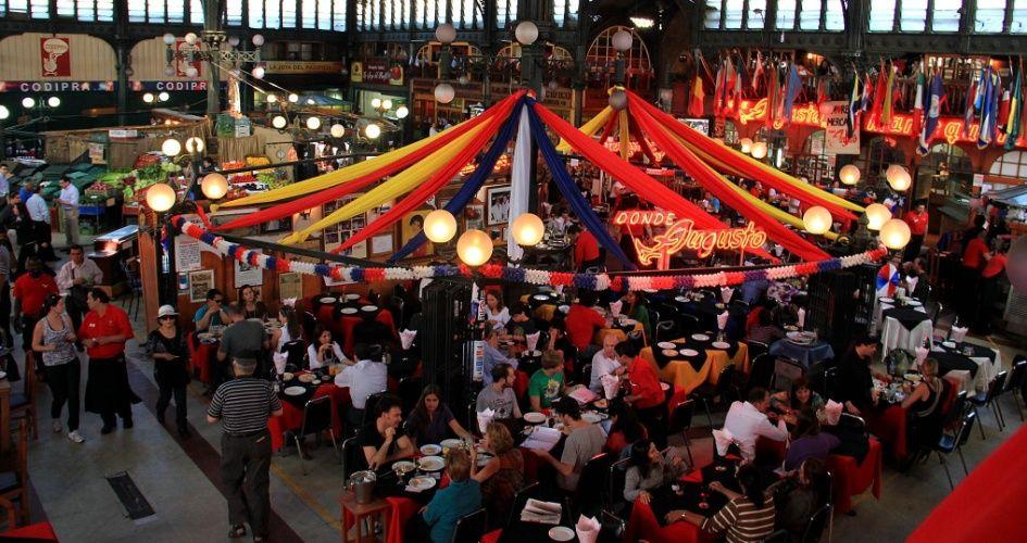 Mercado central en Santiago de Chile